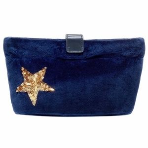India Hicks Mini Merry Bag Blue Velvet Holida '18